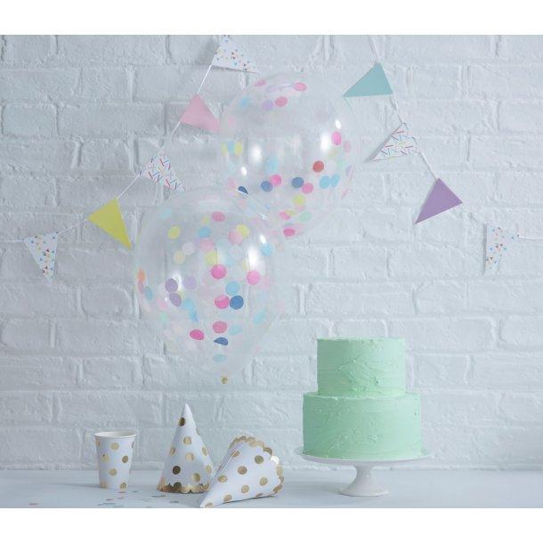 Konfetti Balloner - multifarvet