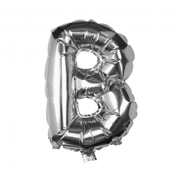 Sølv Folie Ballon - B - 40 cm