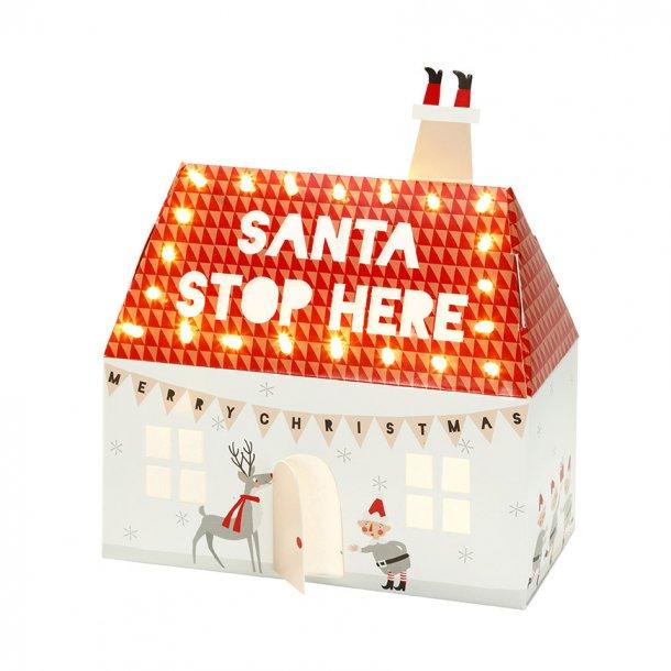 Santa & Friends Julehus med lys